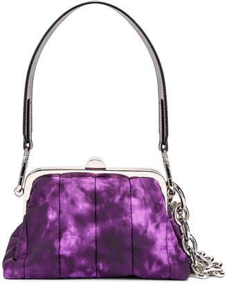 Marques Almeida Marques ' Almeida Mini Padded Clasp Bag in Purple Tie Dye   FWRD