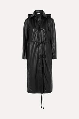 Altuzarra Marina Hooded Leather Coat - Black