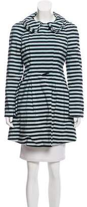 Giorgio Armani Belted Striped Coat