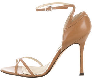Brian Atwood Leather Multistrap Sandals $110 thestylecure.com