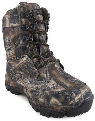 Hunter SMOKY MOUNTAIN Smoky Mountain Kid's Lace Up Tru Timber Camo Waterproof Hunting Boot