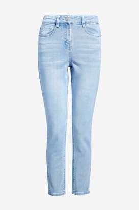 Next Womens Bleach Mom Jeans - Blue