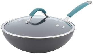 """Rachael Ray Cucina 11"""" Non-Stick Wok with Lid"""