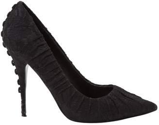 Elizabeth and James Black Cloth Heels