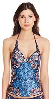 Lucky Brand Women's Layla Tankini with Removable Cups $47.99 thestylecure.com