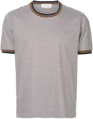 Cerruti striped contrast-trim T-shirt