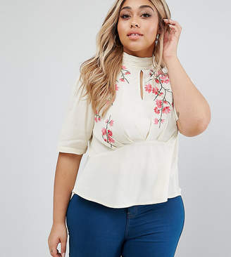 Asos Tea Blouse With Embroidery