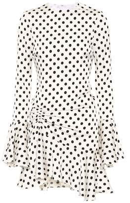 Caroline Constas Monique polka-dot silk-blend dress