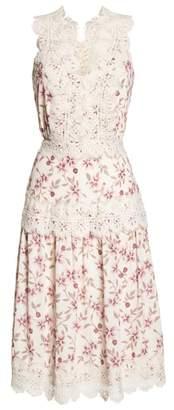 Adelyn Rae Payton Lace Trim A-Line Dress