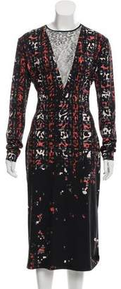 Preen by Thornton Bregazzi Lace-Accented Printed Dress