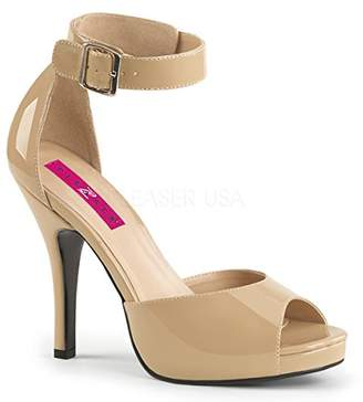 Pleaser USA Pink Label Women's Eve02/Cr Platform Dress Sandal