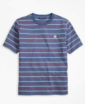 Brooks Brothers Cotton Short-Sleeve Multi-Stripe T-Shirt