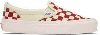 Vans Red OG Checkerboard Classic Slip-On Sneakers