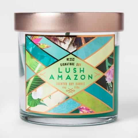 Signature Soy Small Jar Candle Lush Amazon 4oz