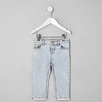 River Island Mini girls light Blue straight leg jeans