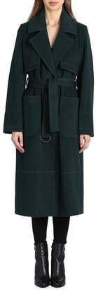 Badgley Mischka Wool Blend Trench Coat