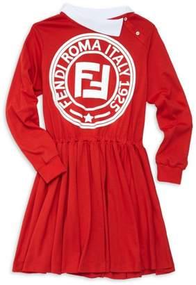 Fendi Little Girl's & Girl's Logo Sweatshirt Dress