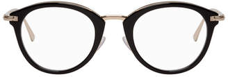 Tom Ford Black and Gold Round Glasses