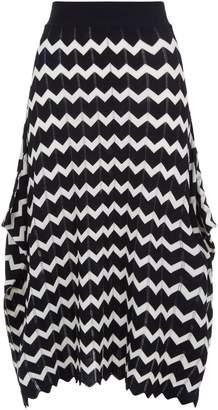 Stella McCartney Asymmetric Hem Midi Skirt