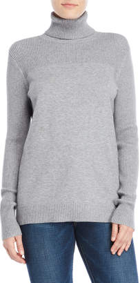 Calvin Klein Jeans Ribbed Yoke Turtleneck Sweater