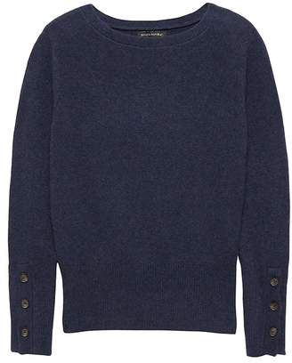 Banana Republic Bouclé Boat-Neck Sweater