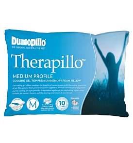 Dunlopillo Therapillo Cooling Gel Medium Profile Memory Foam Pillow