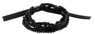 Goti Beaded Leather Multistrand Bracelet