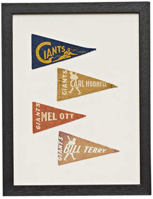 Rejuvenation Framed Collection of Petite Giants Baseball Pennants