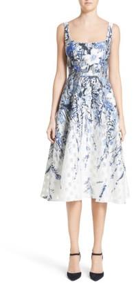 Women's Lela Rose Wildflower Fil Coupe Dress $1,995 thestylecure.com