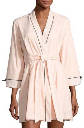 Kate Spade New York Make Me Blush Short Robe, Pink $98 thestylecure.com