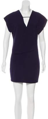 Halston Short Sleeve Shift Dress