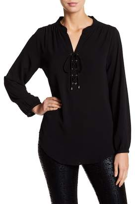 Insight Lace-Up Blouse