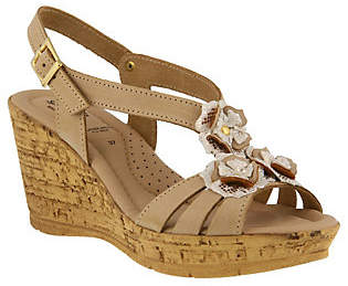 Spring Step Leather Sandals - Teomina