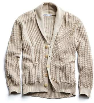 Inis Meáin Organic Pima Cotton Shawl Collar Cardigan in Natural