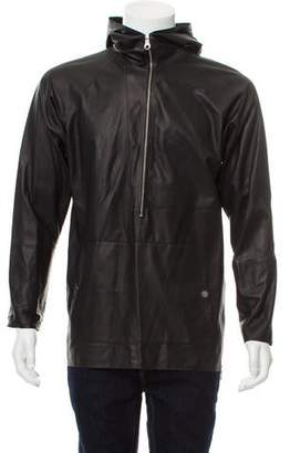 Deveaux Sail Leather Hoodie w/ Tags