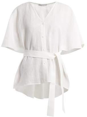 Palmer Harding Palmer//Harding Palmer//harding - Tie Waist Linen Top - Womens - White