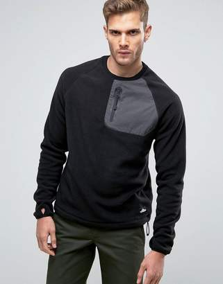 Penfield Carney Polar Fleece Sweatshirt in Black