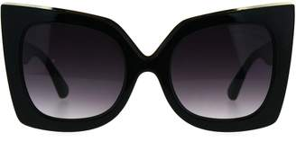Cat Eye SA106 Womens Squared Cateye Tip Butterfly Thick Plastic Sunglasses