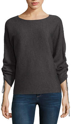 A.N.A Drawstring Sleeve Pullover Sweater