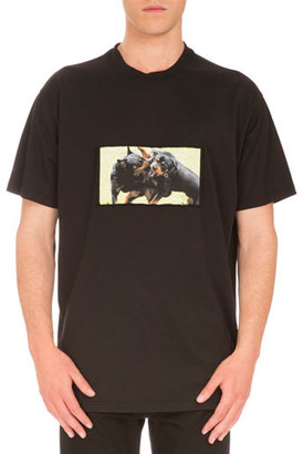 Givenchy Cuban-Fit Rottweilers T-Shirt, Black $595 thestylecure.com