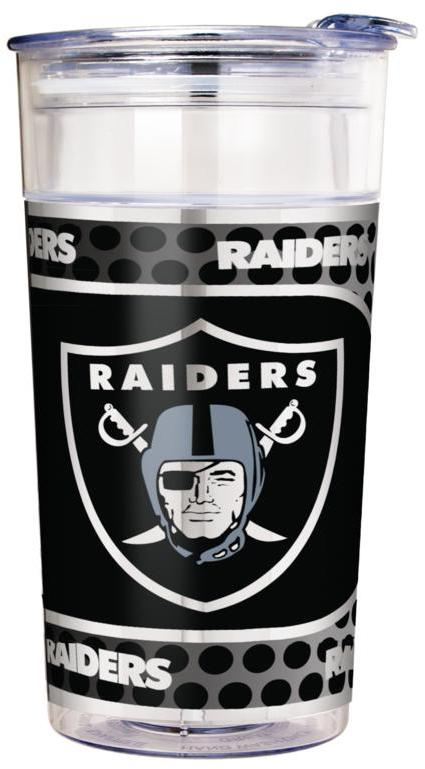 Officially Licensed NFL 22 oz. Double Wall Acrylic Party Cup - Oakland Raiders