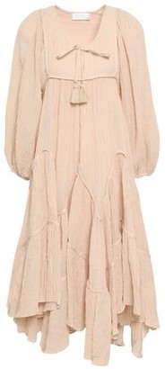 Zimmermann Gathered Gauze Midi Dress
