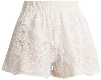 LILA EUGÉNIE 1832 high-rise cotton and silk-blend shorts