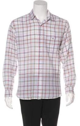 Lacoste Plaid Woven Shirt