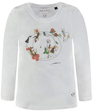 Marc O'Polo Marc O' Polo Kids Girl's 1/1 Arm Long-Sleeved T-Shirt, (Bright White 1000)