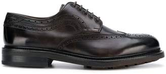 Salvatore Ferragamo punch-hole detail derby shoes