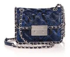 MICHAEL Michael Kors Carine Medium Quilted Snake-Embossed Leather Shoulder Bag