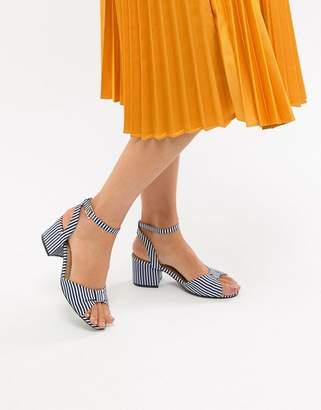 Oasis Stripe Block Heel Sandals