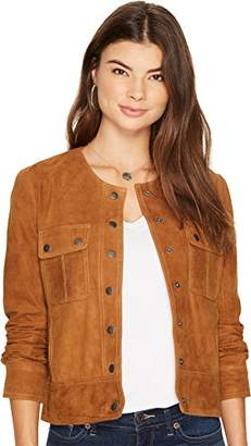 Lucky Brand Women's Suede Pocket Jacket