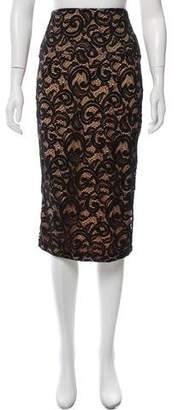 Norma Kamali Lace Midi Pencil Skirt w/ Tags